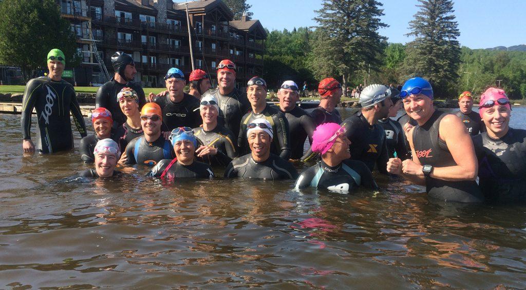 lac Tremblant, athlètes participant à un camp d'entrainement